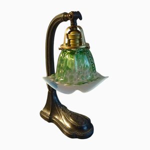 Art Nouveau Green Table Lamp, 1900s