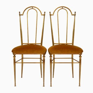 Mid-Century Italian Chiavari Dining Chairs, 1950s, Set of 2