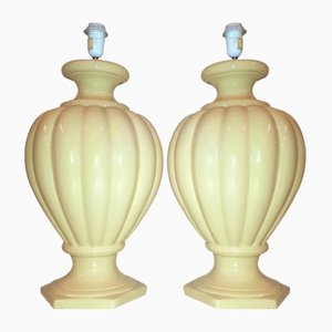 Vintage Porcelain Table Lamps, 1960s, Set of 2
