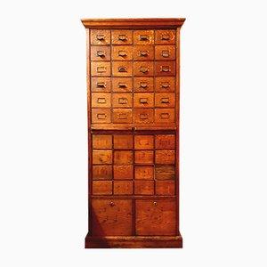 Vintage Oak Filing Cabinet, 1960s