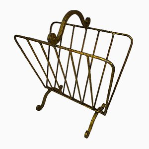 Gold Metal Magazine Rack, 1960s