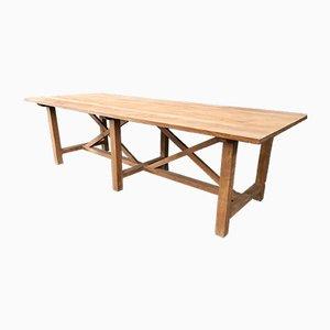 Mesa vintage grande de madera, años 80