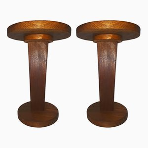Vintage French Side Tables, 1960s, Set of 2