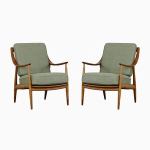 FD-144 Easy Chairs by Peter Hvidt & Orla Mølgaard-Nielsen for France & Daverkosen, 1950s, Set of 2