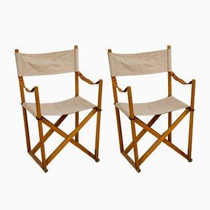 Klappbare Vintage Safari Stühle von Mogens Koch für Interna, 1960er