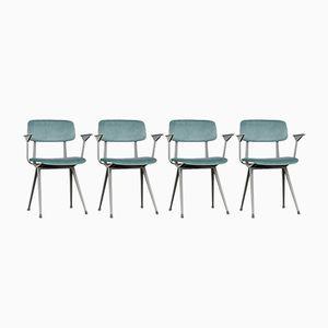 Result Velvet Chairs by Friso Kramer for Ahrend De Cirkel, 1970s, Set of 4