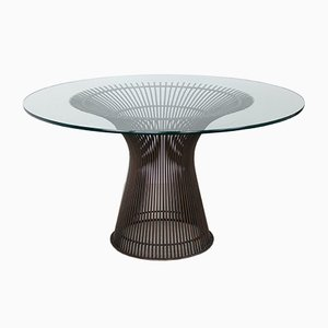 Table de Salle à Manger en Bronze par Warren Platner pour Knoll International, 1966