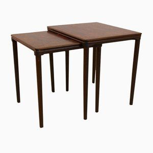 Danish Oak Nesting Tables by E.W. Bach for Møbelfabrikken Toften, 1960s