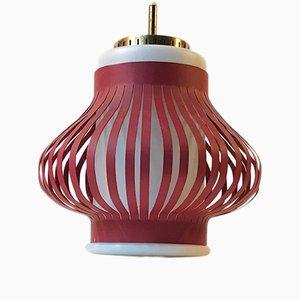 Lámpara colgante Opal Lamella danesa vintage de Svend Aage para Holm-Sørensen, 1959