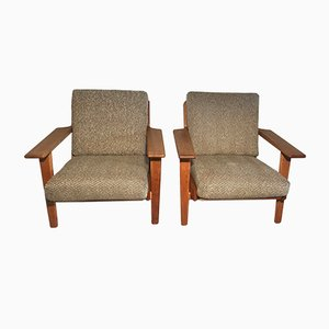 Vintage GE-290 Easy Chairs by Hans J. Wegner for Getama, Set of 2