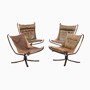 Mid-Century Falcon Lounge Chairs by Sigurd Ressell for Vatne Møbler, Set of 4