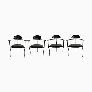 Mid-Century Italian Stiletto Side Chairs from Arrben, 1960s, Set of 4