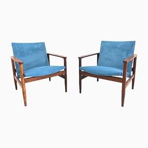 Dänische Lehnstühle, 1960er, 2er Set