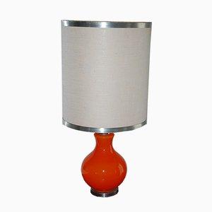 Große orangene Tischlampe, 1970er