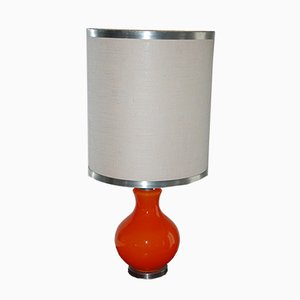 Large Orange Table Lamp, 1970s