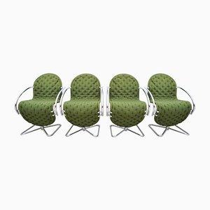 System 1-2-3 de Luxe Sessel von Verner Panton für Fritz Hansen, 1980er, 4er Set