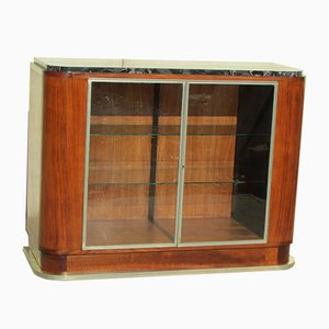 Art Deco Buffet aus Teak & verchromtem Messing, 1930er