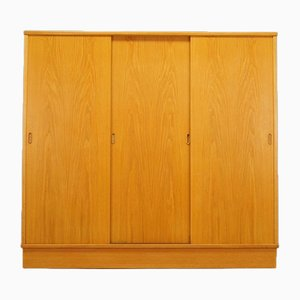 Vintage Danish Ash Wardrobe by Tage Falsig for Bækmarksbro Møbelfabrik, 1960s
