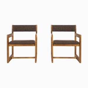Niedrige Stühle mit braunem Bezug von Andre Sornay, 1960er, 2er Set