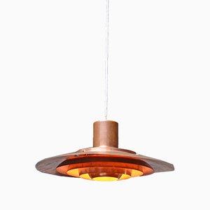 Lámpara colgante de cobre de Preben Fabricius & Jorgen Kastholm para Nordisk Solar