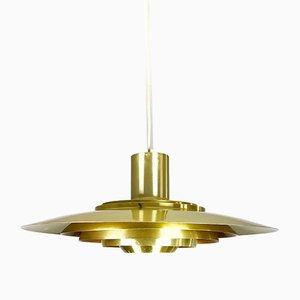Mid-Century Danish Brass Model P 376 Ceiling Light by Preben Fabricius & Jørgen Kastholm for Nordisk Solar