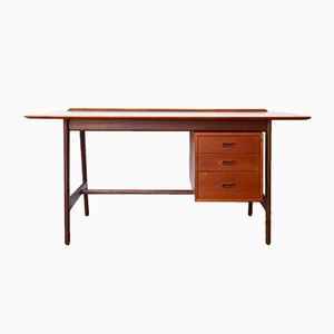 Mid-Century Danish Teak Desk by Arne Vodder & Anton Borg for Vamø, 1960s