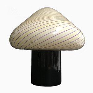 Vintage Tischlampen aus Muranoglas in Pilz-Optik von Toso, 2er Set