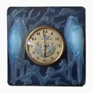 Art Deco Inséparables Clock by René Lalique