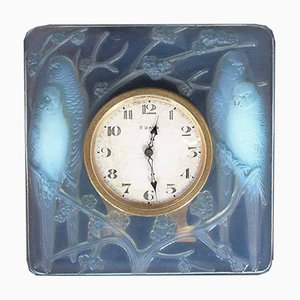 Vintage Model Inséparables Clock by René Lalique