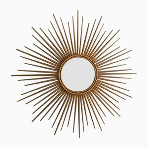 Golden Wall Mirror from Chaty Vallauris, 1960s