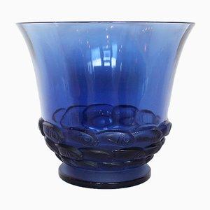Vase Monaco Bleu Vintage par René Lalique