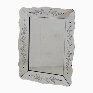 Vintage Venetian Floral Cut Mirror