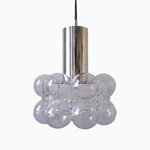 Lampe à Suspension en Bulle de Verre par Helena Tynell & Heinrich Gantenbrink pour Limburg, 1960s