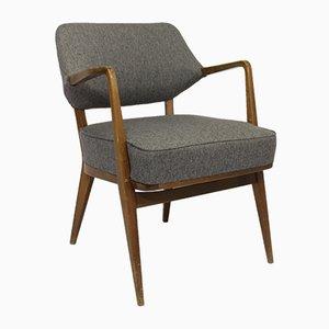 Vintage Sessel mit grauem Chevronbezug von Walter Knoll für Knoll Antimott, 1950er