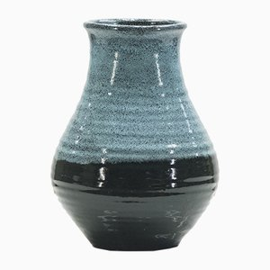 Bicolor Ceramic Vase from Accolay, 1960s