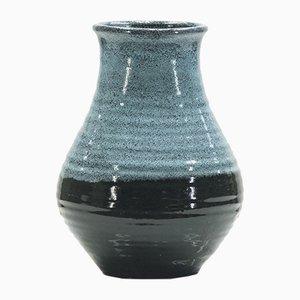 Jarrón de cerámica bicolor de Accolay, años 60