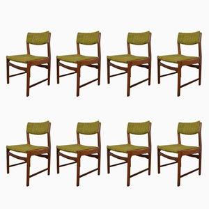 Dänische Mid-Century Esszimmerstühle aus Teak, 1960er, 8er Set