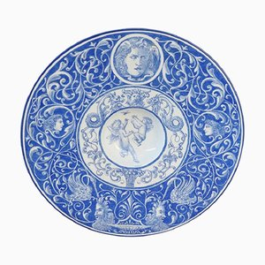 Hand-Painted Wall Plate from Laveno, 1910s