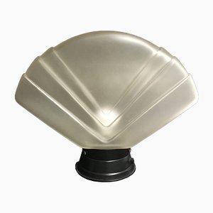 Lampada da tavolo in vetro di Murano a forma di ventaglio, anni '70