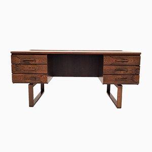 Vintage Brazilian Rosewood Desk by Henning Jensen & Torben Valeur