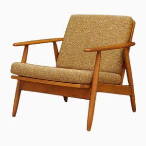 Dänischer Vintage Sessel mit Gestell aus Teak, 1970er