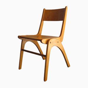 Vintage Stuhl aus Birke mit Gestell in Bumerang-Optik
