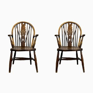 Vintage Windsor Chairs, Set of 2