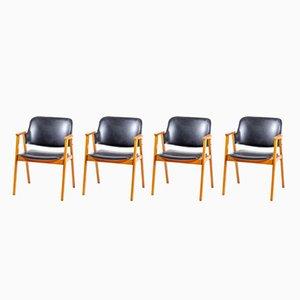 Chaises de Salon par Cees Braakman pour Pastoe, 1950s, Set de 4