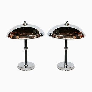 Art Deco Dome Lamps, Set of 2