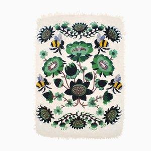 Bombroo Teppich mit grünem Muster von Klaus Haapaniemi für Tikau