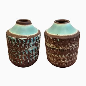 Art Deco Ceramic Vases by Jean Besnard, 1930s, Set of 2