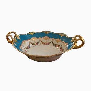 Plata de porcelana pintado a mano, década de 1880