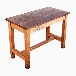 Hoher Arbeits- oder Esstisch aus Buche & Iroko-Holz, 1960er