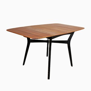 Small Tola & Black Lacquer Dining Table from G-Plan, 1960s